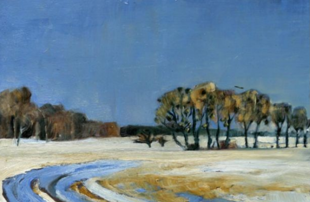 Peter Stechert, Die Elbe im Winter