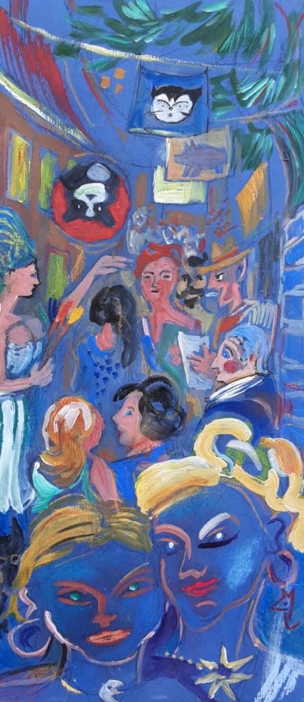 Fest in der Seifengasse | Pastell von Peter Stechert